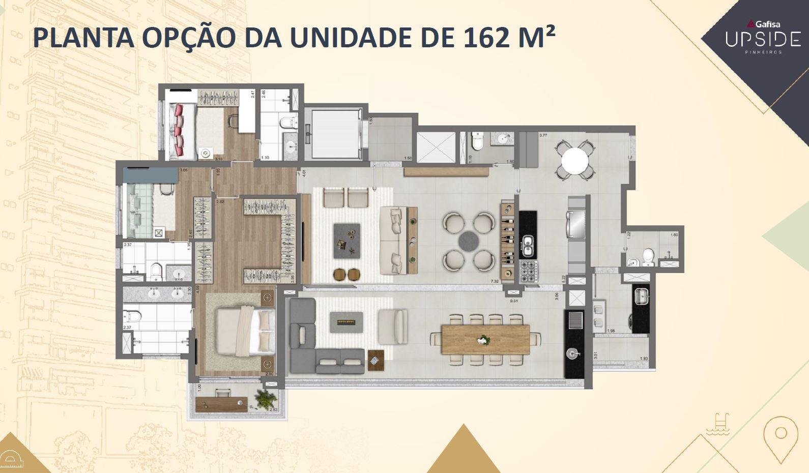 As áreas de um apartamento